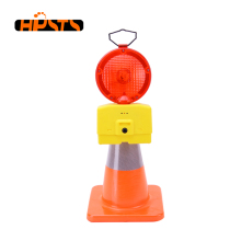 Traffic safety barrier battery powered red led area warning light