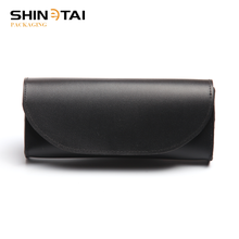 Personalized China Branded Black Sofe PU Magnet Glasses Box Case