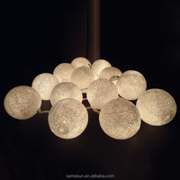 20 White cotton ball lights string lanterns christmas party wedding decoration