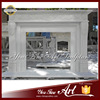 Home White Marble Fireplace Shelf For Ethanol Fireplace