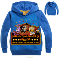 2016 Autumn sweater designs for child clothes print five night freddy 100% cotton fabric hodies and sweatshirts