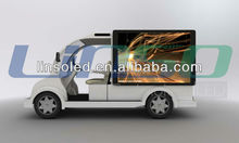 Outdoor Mobile Tourist Electric Cars for Sale, Electric Freight Cars with LED Advertising Screen and LED Light Box