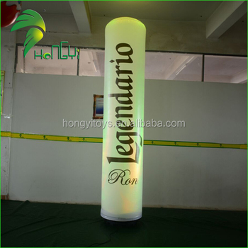 Colorful Party Inflatable Led Column , Advertising Inflatable Pillar Cube For Sale
