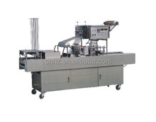 Hongzhan BG-60b full-automatic food beverage flow tray filling and sealing trays machine