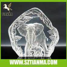 Customized plexiglass elephant sculpture