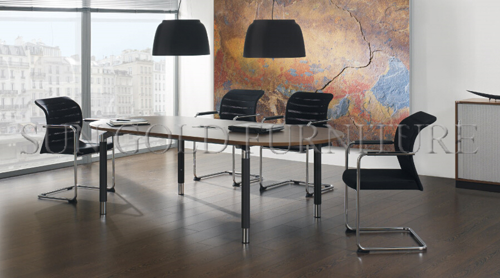 Luxury conference room large office oval meeting table - Protector escritorio ikea ...