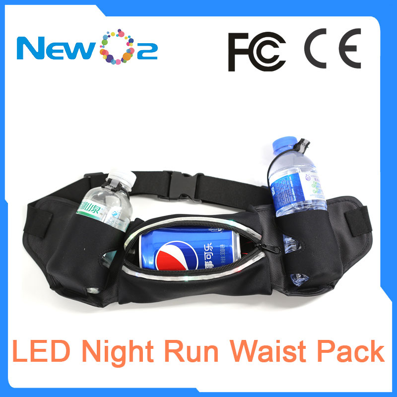 2017 New Healthy design Size adjustable LED Running Waist Pouch
