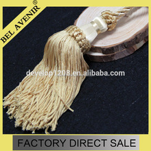Quality Gold Cream Rope Tassel Curtain Tie Backs