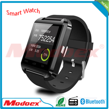 2016 promotion gift hebrew language u8 smart watch 1.54inch touch screen bluetooth wrist watch mobile phone