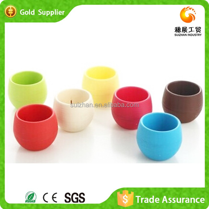 Hot Sale Small Plastic Christmas Flower Pots Round Pot For Cactus Plant