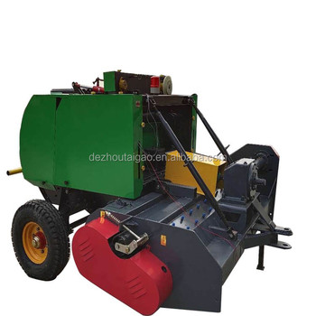 Mini round hay baler machine pine straw baler for sale / Crushing and baling machine