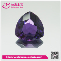 Best quality trillion shape synthetic amethyst