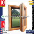 Moder Style Aluminium and Wood Composite Swing Widow for Sale