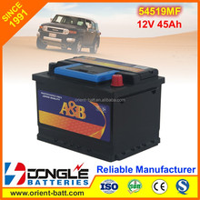 2016 New Type Top Quality Sealed Maintenance Free Car Battery 54519MF 12V 45Ah