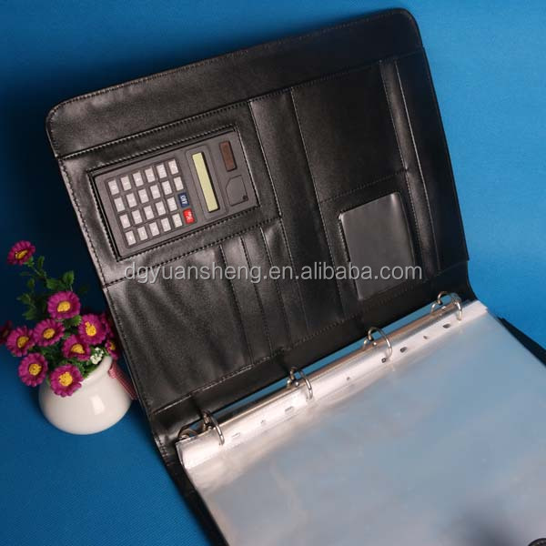 pu pocket notebook calculator with high quality