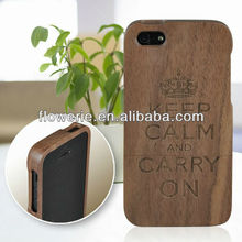 FL2186 2013 Guangzhou hot selling walnut bamboo wood case for iphone 5 5G