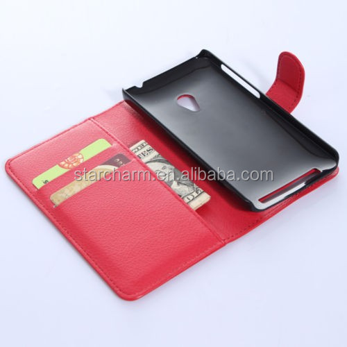 book style mobile phone pu leather case for asus zenfone 5