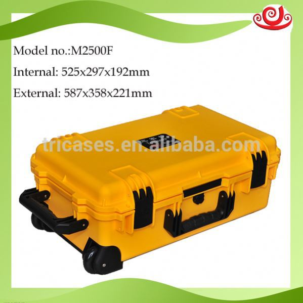 Factory price !!plastic precision instrument waterproof protective hard flight case M2500