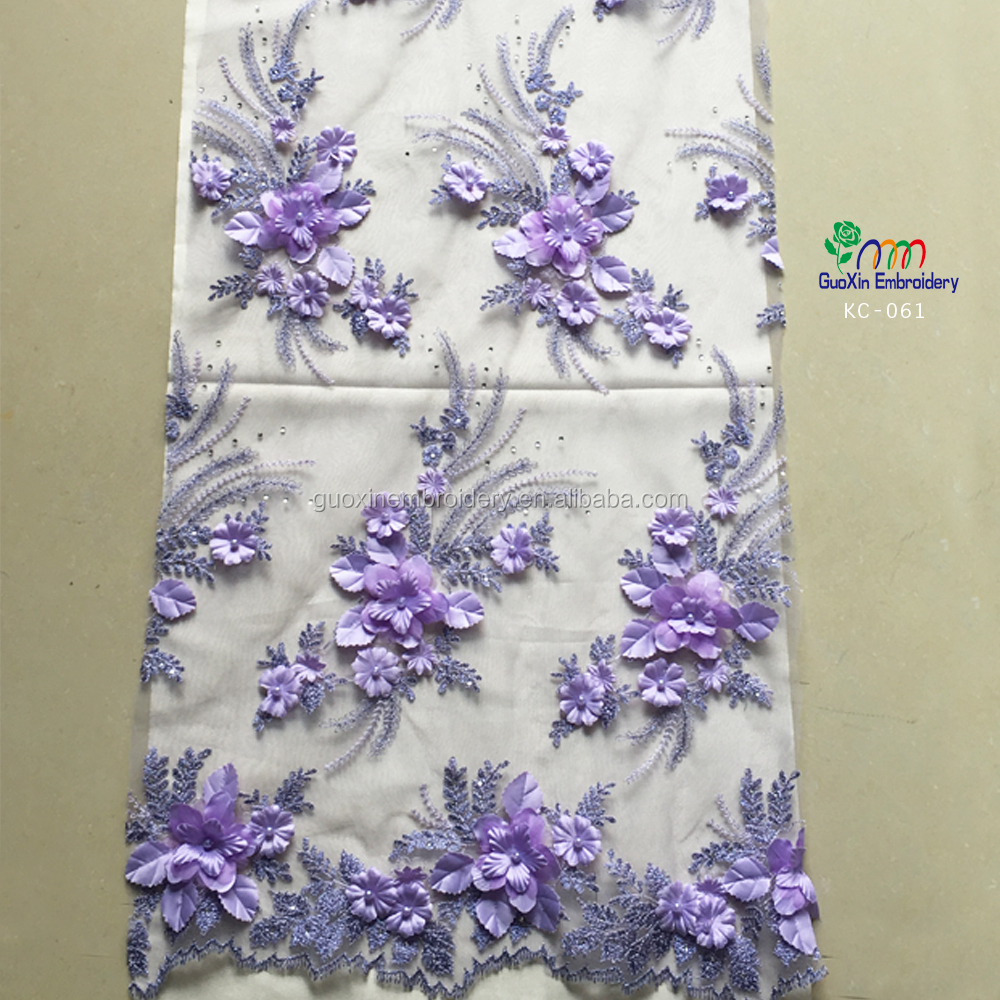New pattern embroidery d lace applique guipure