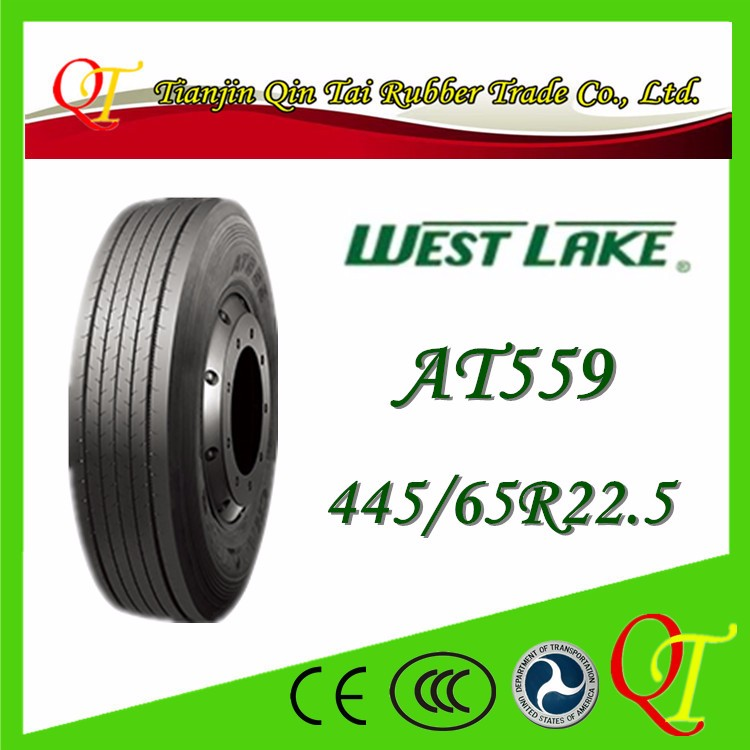 Port vacuum tire full steel wire heavy duty tire 445/65R22 5 big truck tires for sale