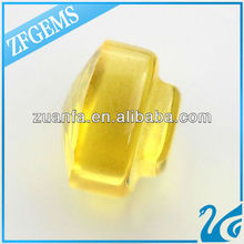 AAA quality mushroom faceted yellow glass beads