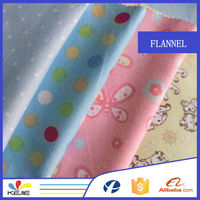 hot sale 100% cotton flannel all kinds of print fabric
