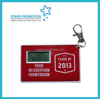 promotional countdown timer; customized countdown clock with keychain