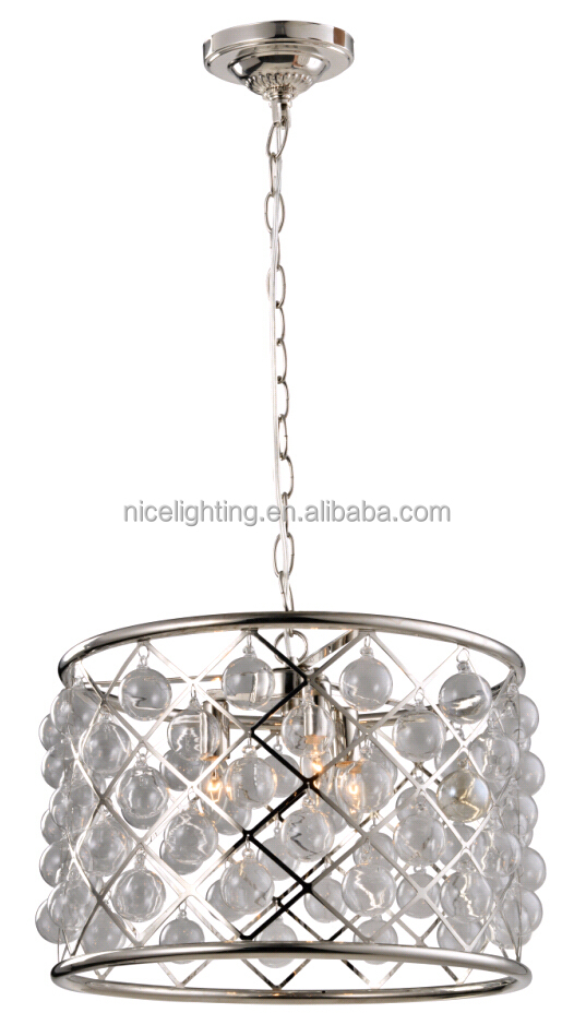 K9 crystal chrome iron chandelier with CE,UL,ROSH hotel crystal pendant