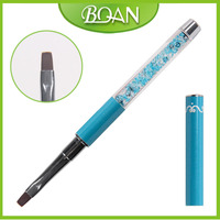 2016 BQAN New Clear Mix Blue Rhinestones UV Gel Brush Nylon Hair Nail Art Tool