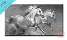 2015 modern animal latest fabric painting designs grey horse for lobby decoration