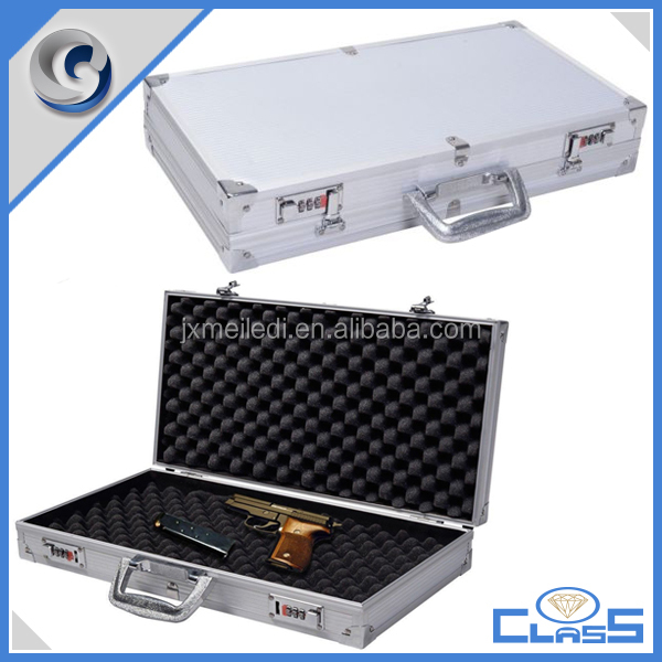 MLD-AC3298-17 heavy duty handgun aluminum hard pistol case