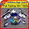 Body For YAMAHA YZF600 YZF R6 06 07 white blue YZF 600 R 6 Bodywork 7HM-5 YZFR6 06 07 YZF-R600 YZF-R6 2006 2007 Fairings kit