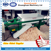 Low price wood shavings log making machine