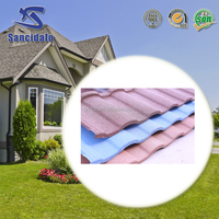 Colorful stone coated steel/metal roofing tile /roofing sheet for vila use