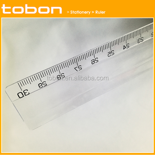 Directly factory width 35mm 30cm 12 inch plastic Straight ruler