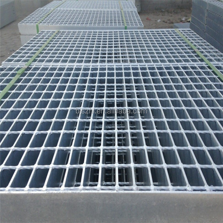 Heavy duty serrated galvanized steel floor grating weight and Foot Grating