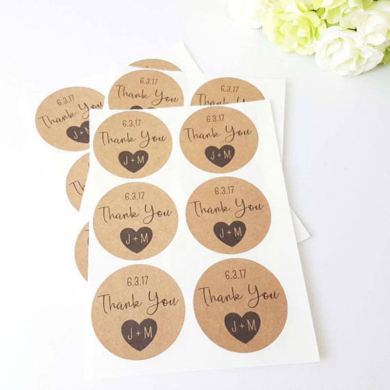Kraft Paper Blank Stickers gift stickers Labels Sheet transparent paper sticker sheet