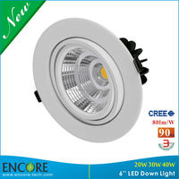 Round shape cool white CCT 3000K led lights drop ceiling recessed 20W 30W 38W