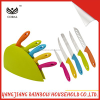different color PP handle of stainless steel knife set