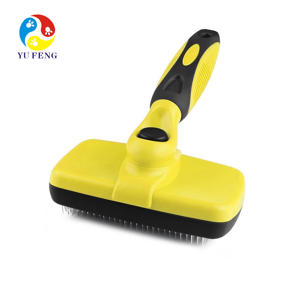 Self Cleaning Slicker Brush,Dog Brush for Grooming,Removes ,Mats,Undercoat and Loose Hair with Minimal Effort,Easy to Clean