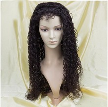 China Wholesale full lace Brazilian human hair curly wig for black women,ponytail lace front wig with swiss lace for wig making