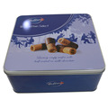Custom  Square Biscuits Metal Tin Boxes