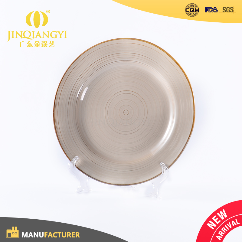 Promotional outdoor country chic ceramic stoneware artisian restaurant plates premiun