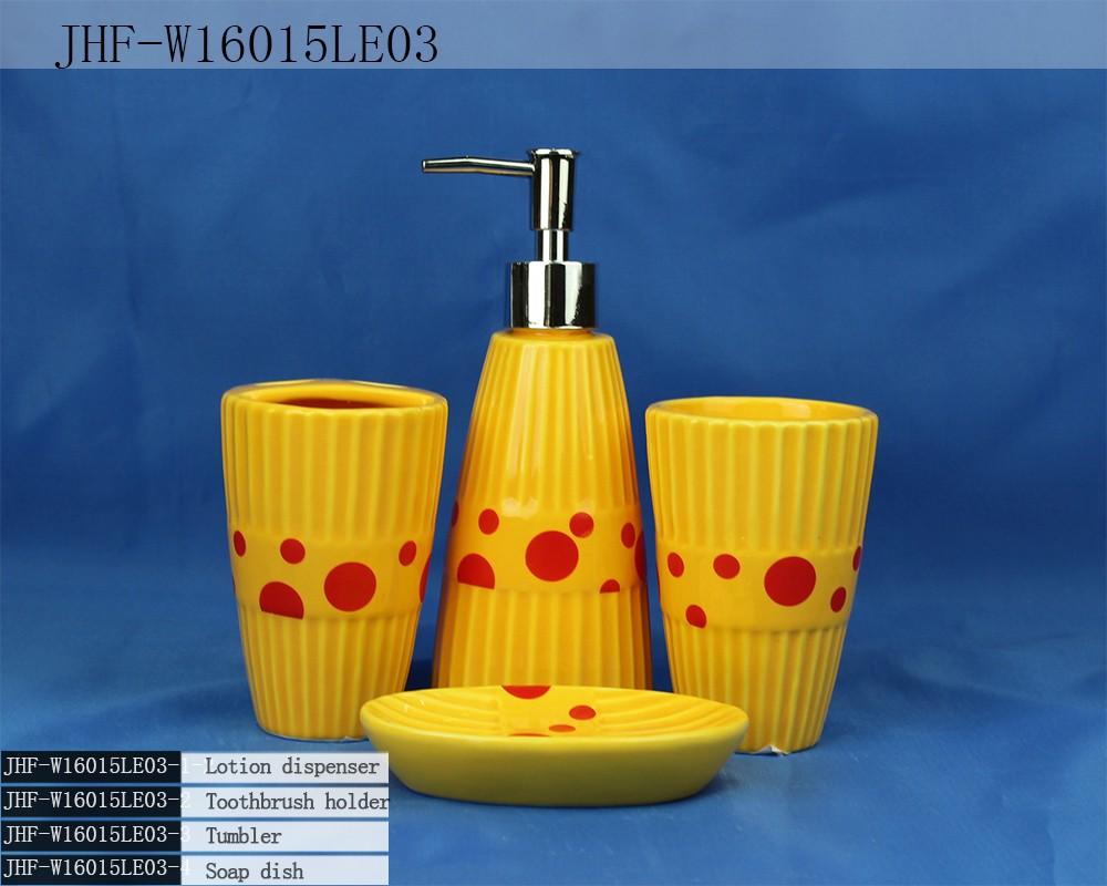 Yellow bathroom sets