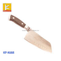 wood &steel handle stainless steel slicer knife super thin carving knife