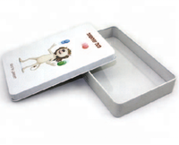 Rectangular tin box with DIY design for candy,chocolate and cigarette