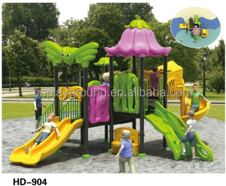 vegetable garden theme plastic outdoor playground for kids play games
