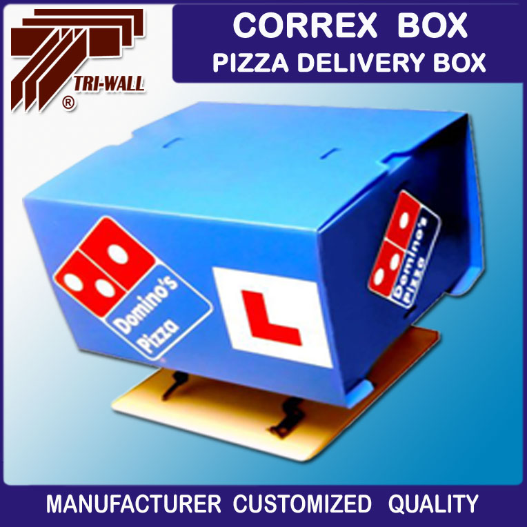 Correx Box Corflute Box Pizza Delivery Boxe for Motorcycle Scooters
