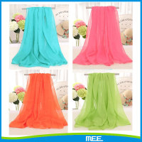 summer popular chiffon solid scarf
