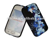 Blue Flower Gel Print Case For SamSung i8160 Galaxy Ace 2